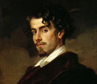 Gustavo Adolfo Bécquer (detalle de un retrato realizado por su hermano Valeriano, c. 1862)