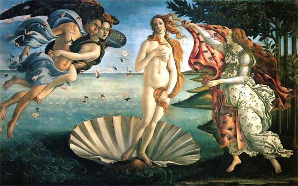 El nacimiento de Venus (1485), de Botticelli