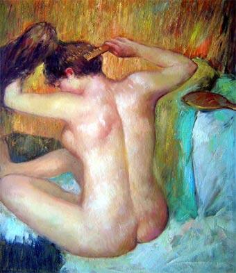 Mujer peinándose (1887-1890, Museo de Orsay)