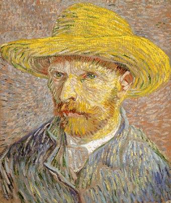 Autorretrato con sombrero de paja (1887-88)