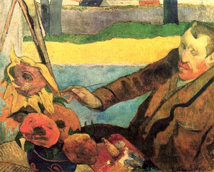 Van Gogh pintando girasoles (1888), de Paul Gauguin
