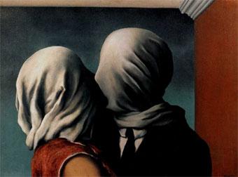 Personificación del pensamiento obsesivo. Magritte_amantes
