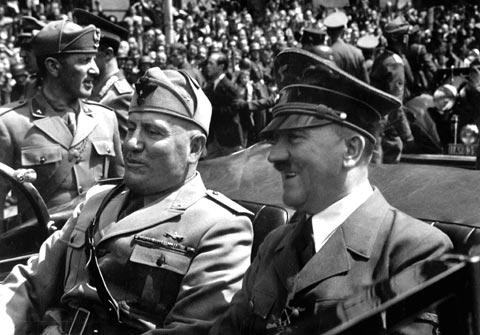Mussolini y Hitler (Múnich, 1940)