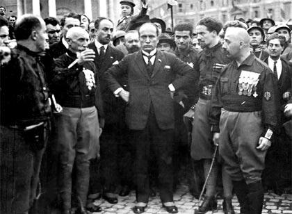 Mussolini en la Marcha sobre Roma (1922)