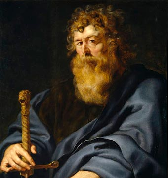 San Pablo Apóstol (detalle de un retrato de Rubens, c. 1611)
