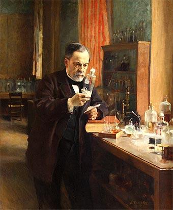 Louis Pasteur (óleo de Albert Edelfelt, 1885)