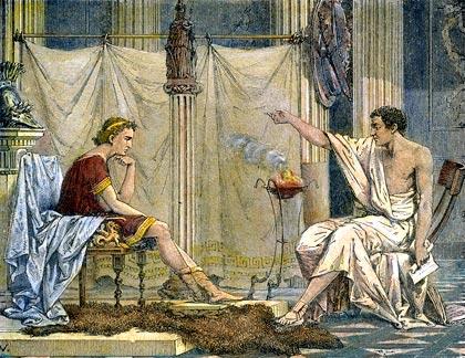 Socrates Teaching Aristóteles. Biog...