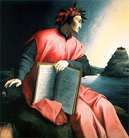 Dante (óleo de Agnolo Bronzino, c. 1530)