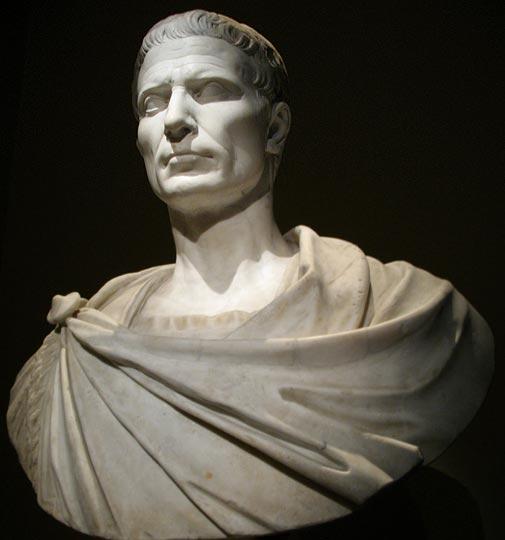 Julio César. Fotos: Busto de Julio César