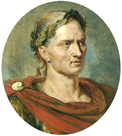 صورة الامبراطور يولويس قيصر في عز شبابه