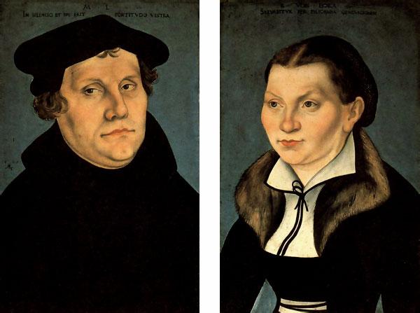Lutero y su esposa.