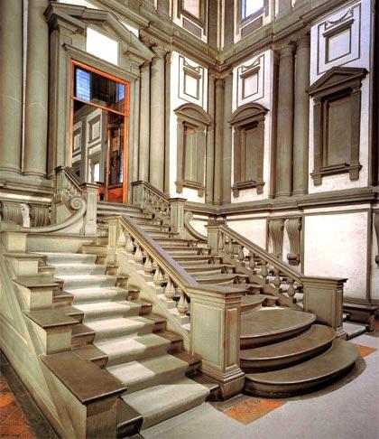 La arquitectura de miguel ngel - Escalera de biblioteca ...