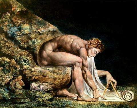 Newton según el visionario pintor William Blake