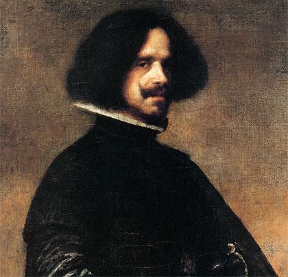 Detalle de un Autorretrato de Velázquez (c. 1645)