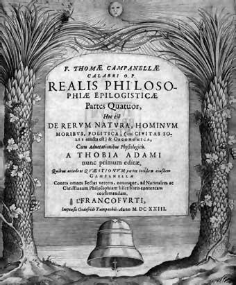 Portada de la edición de 1623 de la Filosofía epilogística, en la que se incluyó La ciudad del Sol