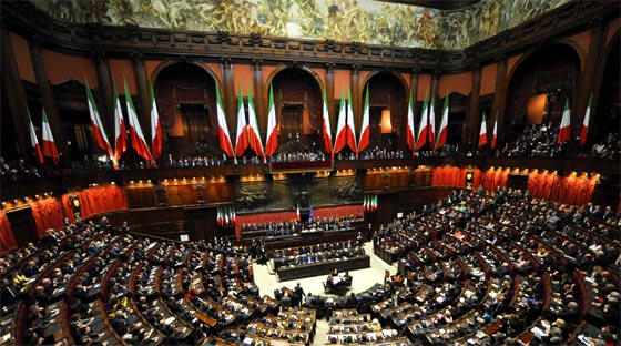 La democracia for Schema del parlamento italiano